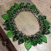 """Украшения ручной работы. Ярмарка Мастеров - ручная работа браслет """"Зеленый шорох"""". Handmade."""