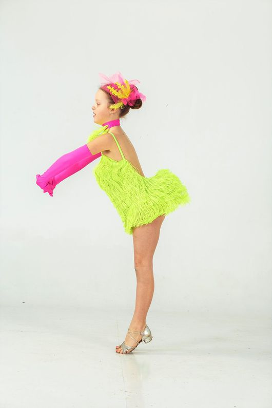 """Танцевальные костюмы ручной работы. Ярмарка Мастеров - ручная работа. Купить Платье для бальных танцев (латина) """"Youth Dance style"""". Handmade."""