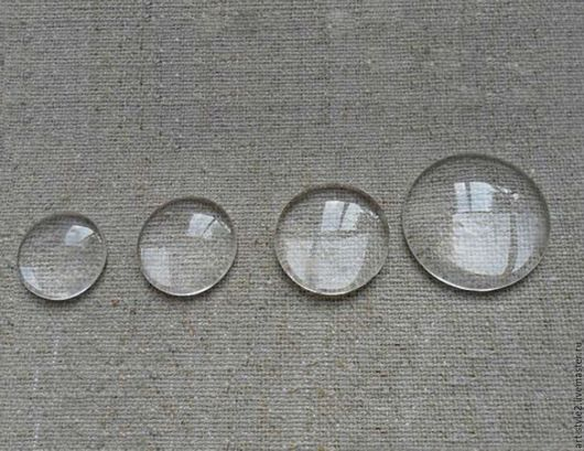 Для украшений ручной работы. Ярмарка Мастеров - ручная работа. Купить Кабошон стеклянный, для украшений, 8-10-12-14 мм.. Handmade.