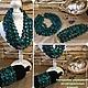 Авторская бижутерия украшения из натуральных камней бирюзовое колье браслет комплект купить фото бирюза