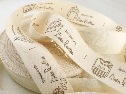 Шитье ручной работы. Ярмарка Мастеров - ручная работа. Купить NEW Нашивки / бирки текстильные Linen & Cotton. Handmade.