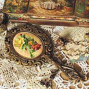 Для дома и интерьера ручной работы. Ярмарка Мастеров - ручная работа Зеркало с ручкой Розы Подарок девушке. Handmade.