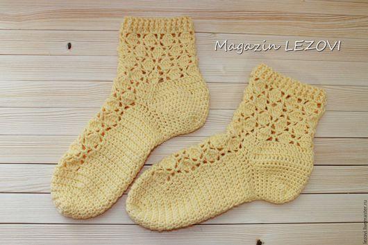 Носки, Чулки ручной работы. Ярмарка Мастеров - ручная работа. Купить Вязаные носочки. Handmade. Тапочки, тапочки вязаные
