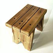 Табуреты ручной работы. Ярмарка Мастеров - ручная работа Табурет из массива сосны. Handmade.