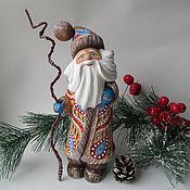 Сувениры и подарки handmade. Livemaster - original item Santa Claus wooden