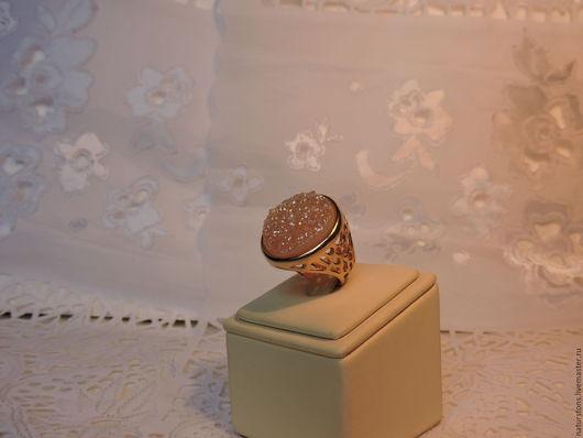 Кольца ручной работы. Ярмарка Мастеров - ручная работа. Купить кольцо с золотой друзой. Handmade. Золотой, уникальный камень
