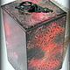 Кухня ручной работы. Ведьмин лес - короб для хранения. Уникальный дом (Ольга). Интернет-магазин Ярмарка Мастеров. Красный