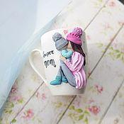 Кружки ручной работы. Ярмарка Мастеров - ручная работа Кружка с декором Супер мама. Handmade.