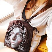 Сумки и аксессуары handmade. Livemaster - original item 3D bag made of genuine suede