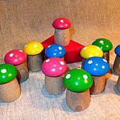 Куклы и игрушки handmade. Livemaster - original item Wooden toy counting the material is Fabulous Muhomorchiki 12 PCs. Handmade.