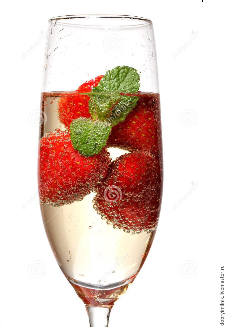 шампанское с клубникой фото