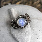 Украшения handmade. Livemaster - original item Men`s ring with a moonstone