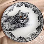 """Посуда ручной работы. Ярмарка Мастеров - ручная работа Тарелка """"Мой любимец"""". Handmade."""