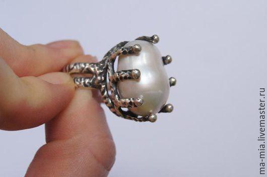 Кольца ручной работы. Ярмарка Мастеров - ручная работа. Купить кольцо  Белый Лотос. Handmade. Белый, купить подарок женщине