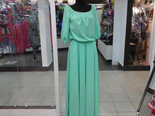Платья ручной работы. Ярмарка Мастеров - ручная работа. Купить платье в пол салатового цвета. Handmade. Мятный, платье летнее