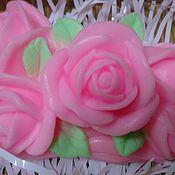 """Косметика ручной работы. Ярмарка Мастеров - ручная работа Сувенирное мыло ручной работы """"Букетик из роз"""". Handmade."""