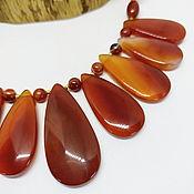 Украшения handmade. Livemaster - original item Necklace Drop Dance of fire (carnelian agate). Handmade.