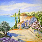Pictures handmade. Livemaster - original item Oil painting. Italy,Tuscany. Handmade.