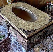 """Для дома и интерьера ручной работы. Ярмарка Мастеров - ручная работа """"Старинный сад"""" шкатулка-салфетница. Handmade."""