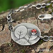 Украшения handmade. Livemaster - original item Trees (925 silver, garnet rhodolite). Handmade.