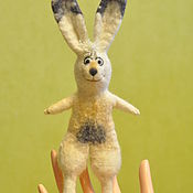 Куклы и игрушки ручной работы. Ярмарка Мастеров - ручная работа Игрушка пальчиковая Зайчик. Handmade.