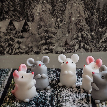 Косметика ручной работы. Ярмарка Мастеров - ручная работа Мыло: Мышка- малышка -1. Handmade.