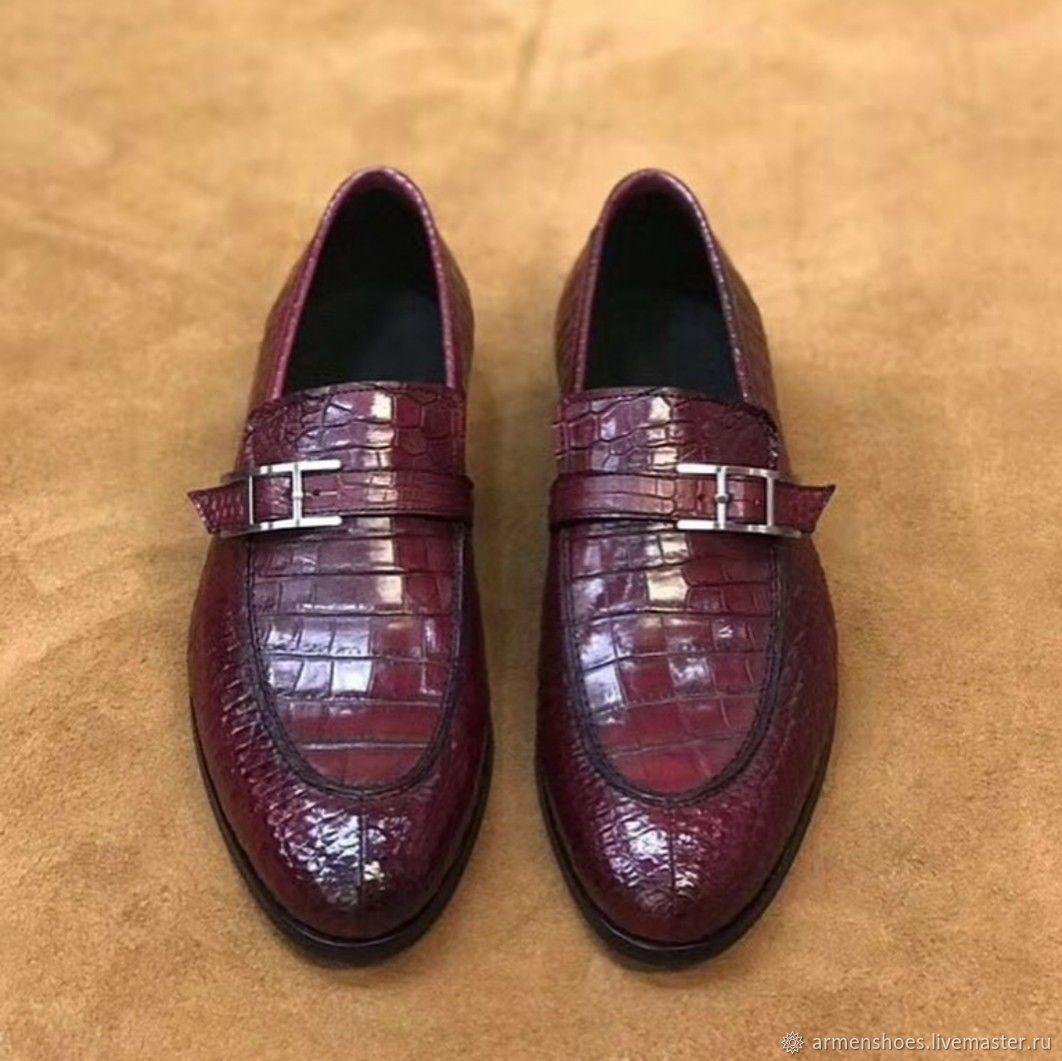 Мужские туфли - лоферы, из кожи крокодила, три цвета на заказ!, Обувь, Тосно, Фото №1