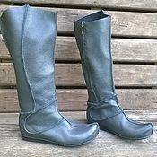 Обувь ручной работы. Ярмарка Мастеров - ручная работа Высокие кожаные сапоги КАЙЯ. Handmade.