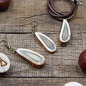 handmade. Livemaster - original item Taiga jewelry set (Pendant Earrings). Handmade.