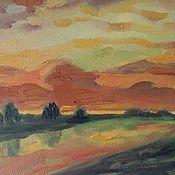 Картины и панно handmade. Livemaster - original item --And the sky in the fluffy clouds--. Handmade.