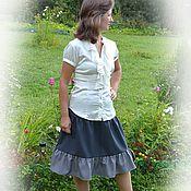 Одежда handmade. Livemaster - original item MIDI skirt made of wool Inspiration,office wear,school uniforms. Handmade.
