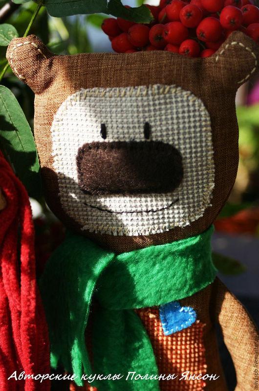 Игрушки животные, ручной работы. Ярмарка Мастеров - ручная работа. Купить Мишка игрушка текстильная ручной работы Миша. Handmade.