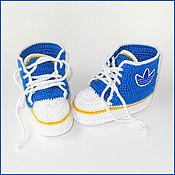 Работы для детей, ручной работы. Ярмарка Мастеров - ручная работа Пинетки-кеды синие. Handmade.