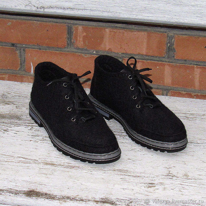 Mens felted shoes, Shoes, Salsk,  Фото №1