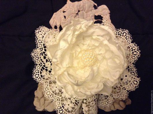 Цветы ручной работы. Ярмарка Мастеров - ручная работа. Купить Цветы текстильные. Handmade. Кремовый, цветы из ткани, аксессуары для свадьбы