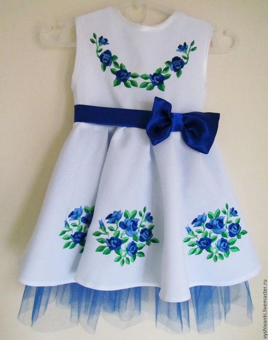 Одежда для девочек, ручной работы. Ярмарка Мастеров - ручная работа. Купить Вышитое платье для девочки подарок ребенку. Handmade. Белый