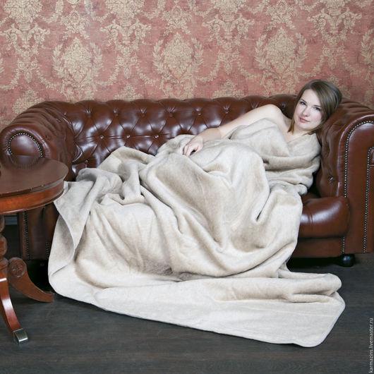 Текстиль, ковры ручной работы. Ярмарка Мастеров - ручная работа. Купить Одеяло, шерсть Верблюжат ЭЛИТ. Handmade. Бежевый, верблюд