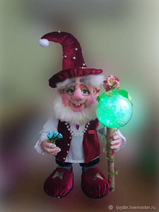 Интерьерная кукла - светильник Гном, Интерьерная кукла, Житомир,  Фото №1