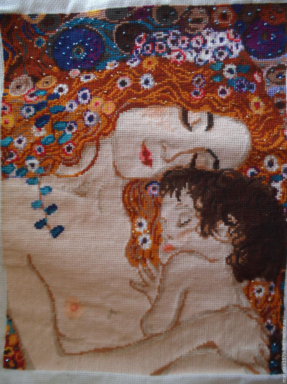 Женщина с ребенком вышивка