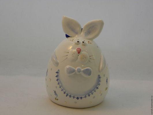Колокольчики ручной работы. Ярмарка Мастеров - ручная работа. Купить Пасхальный кролик-колокольчик. Handmade. Колокольчик керамический, веселый подарок
