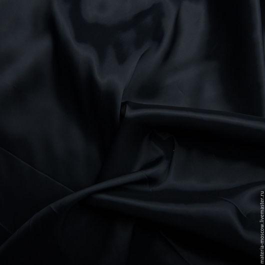 Шитье ручной работы. Ярмарка Мастеров - ручная работа. Купить Подкладочная ткань стретч (т.синий). Handmade. Тёмно-синий