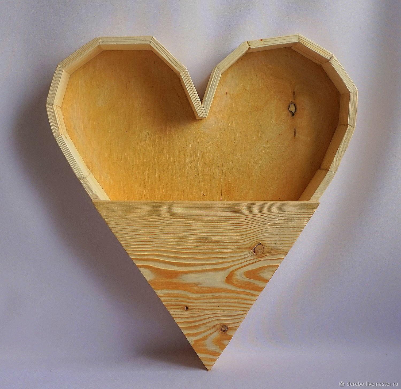 Кашпо (ящик) для цветов в форме сердца, Корзины, Ленинградская, Фото №1
