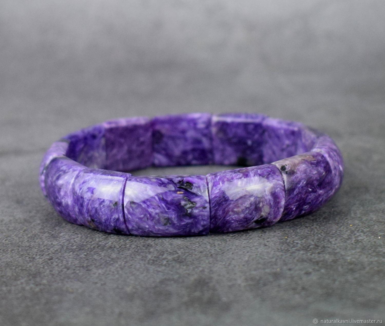 Bracelet, natural charoite, Bead bracelet, Moscow,  Фото №1