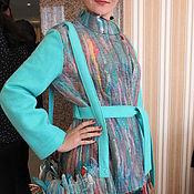 """Одежда ручной работы. Ярмарка Мастеров - ручная работа Жакет   Войлок"""" Голубые жгуты"""". Handmade."""