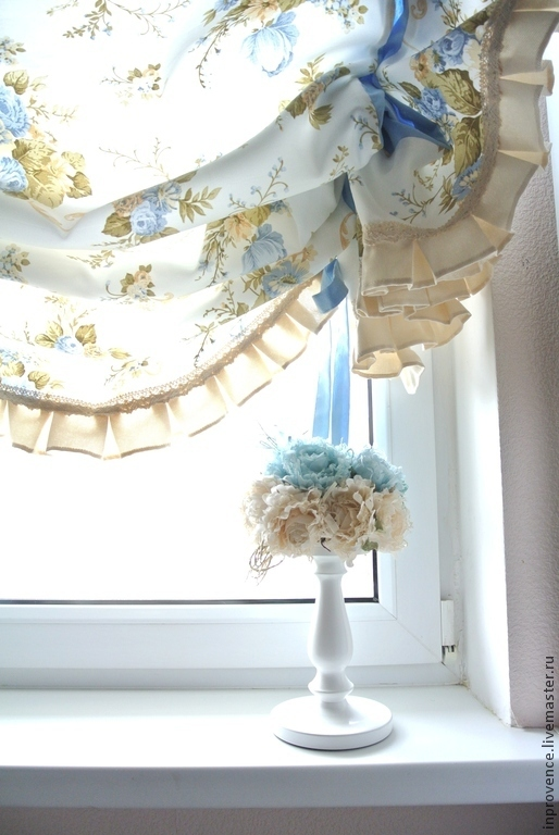 Buy Curtains With Blue English Roses Shabby Chic Style On Livemaster Online Shop