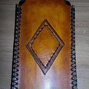 Чехол ручной работы. Ярмарка Мастеров - ручная работа Кожаный чехол из натуральной кожи, для телефона- смартфона. Handmade.