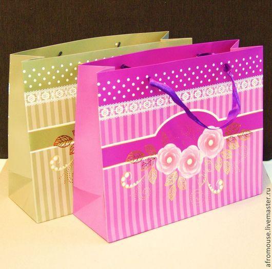 пакет `Цветочные букетики` 26х32х11 см горизонтальный