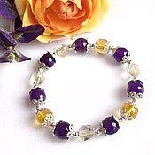 Украшения handmade. Livemaster - original item Bracelet made of natural citrine, lemon quartz and jadeite. Handmade.