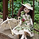 Коллекционные куклы ручной работы. Ярмарка Мастеров - ручная работа. Купить Оливия. Handmade. Оливковый, подарок женщине, пряжа хлопок