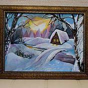 Картины и панно handmade. Livemaster - original item Pictures: Winter story. Handmade.